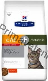 Hill's Feline C/D Dry Urinary Stress Metabolic 4 kg